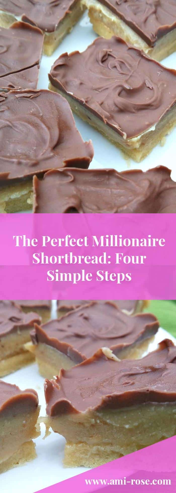 The Perfect Millionaire Shortbread in just 4 Simple Steps. A household favourite!