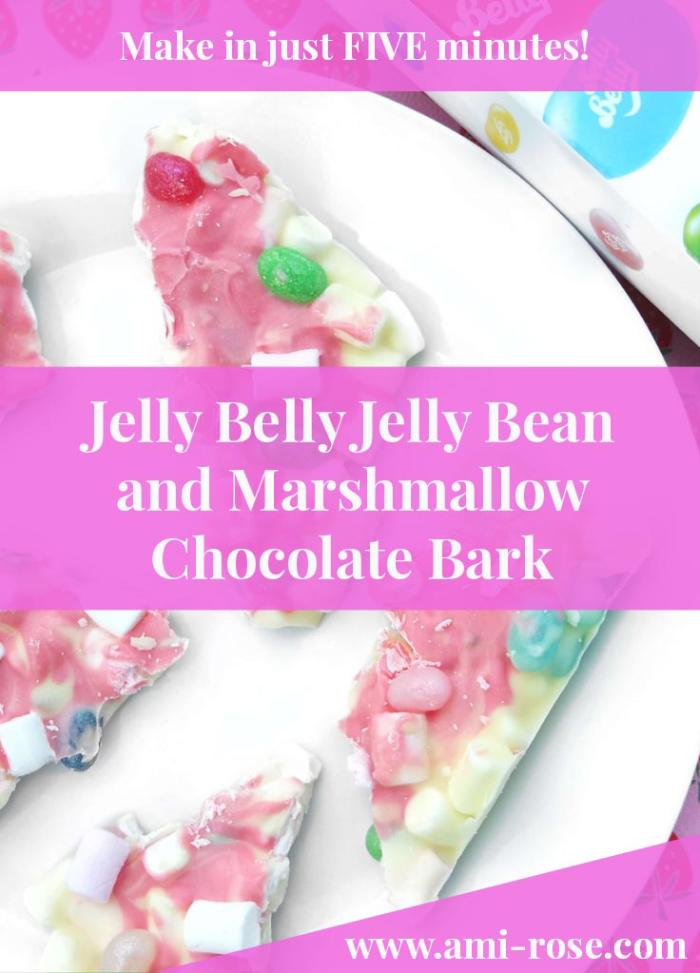 Make this Jelly Belly Jelly Bean and Marshmallow Chocolate Bark in just FIVE minutes. A perfect treat for both children and adults and it can be made with any different sweets or chocolate.