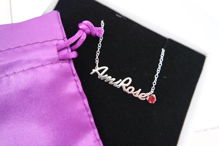 Just Between Us Personalised Name and Birthstone Necklace