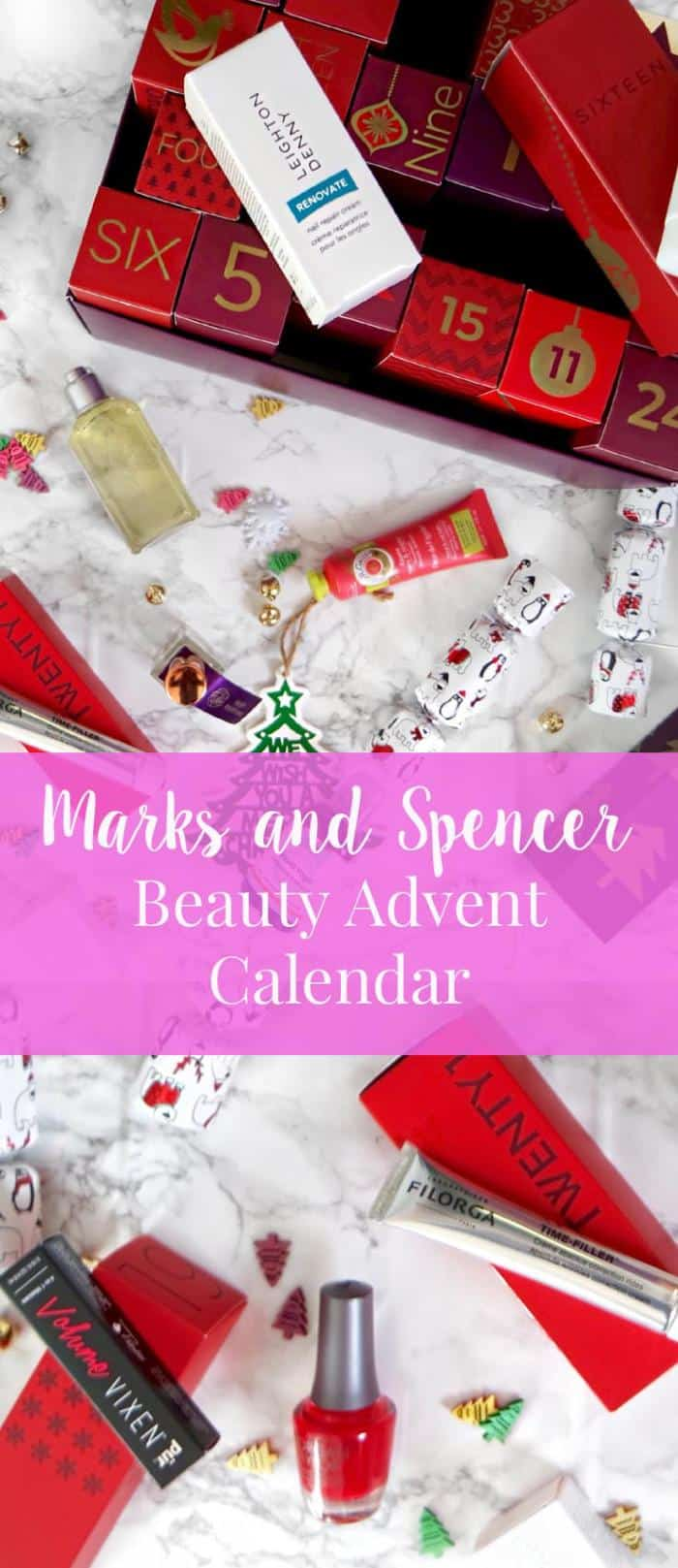 Marks and Spencer Beauty Advent Calender. Spend £25 in store and get this for just £25. Filled to the brim with products worth over £200.
