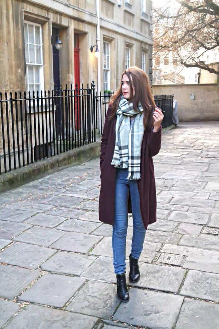 The Perfect Winter Coat - Burgundy Longline Coat