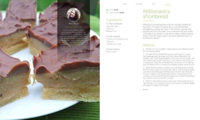 Millionaire's Shortbread, Voucherbox FREE Recipe Book