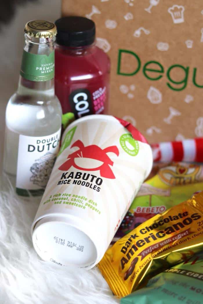 February Degustabox featuring Coldpress Juices
