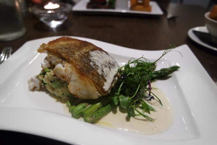 Lightly Spiced Cod Loin at The Vale Grill, Cardiff
