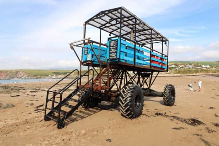 Burgh Island Sea Tractor - Burgh Island Sea Tractor - The Ultimate Camping Trip Around Devon and Cornwall