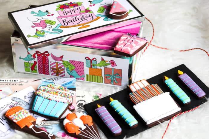Biscuiteers Happy Birthday Luxe Biscuit Tin