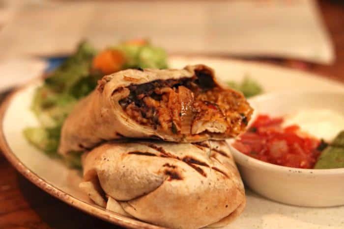 Las Iguanas Bristol Harbourside Burrito