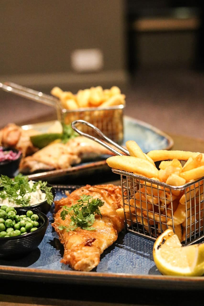 Fish and Chips at Chophouse Restaurant Future Inns Bristol