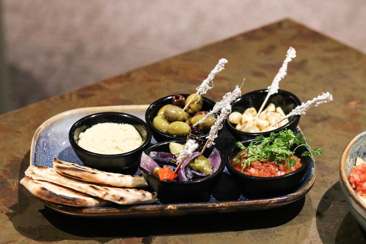 Mezze Platter at Chophouse Restaurant Future Inns Bristol