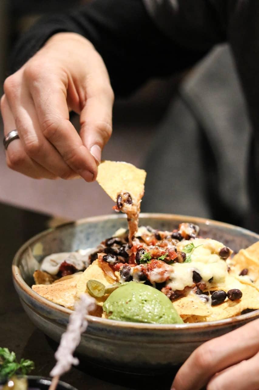 Nachos at Chophouse Restaurant Future Inns Bristol