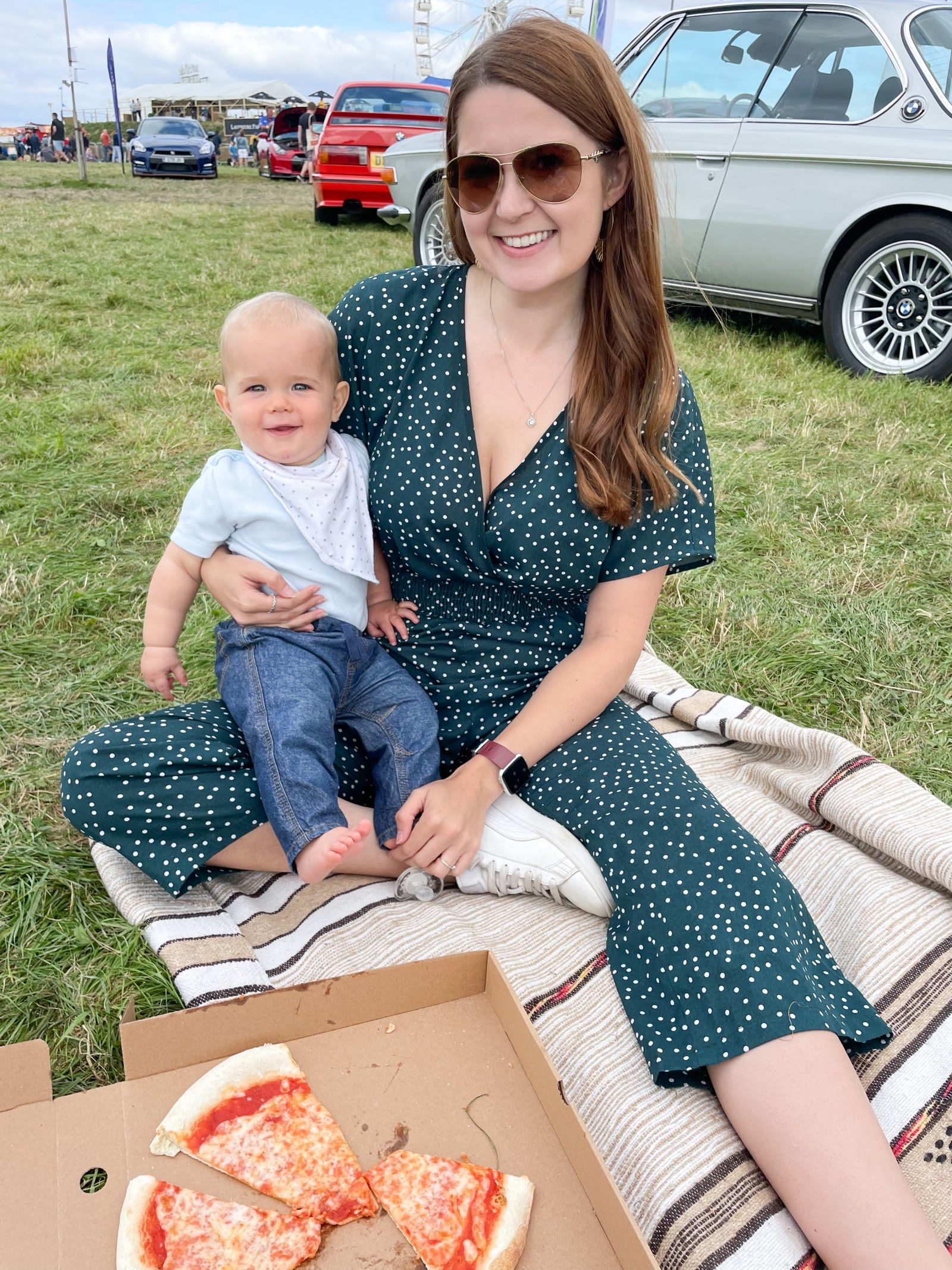 Ami and Arthur with Pizza at Carfest